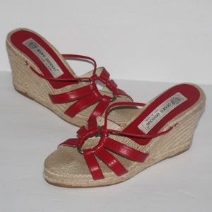 André Assous Red Espadrille Sandal wedge